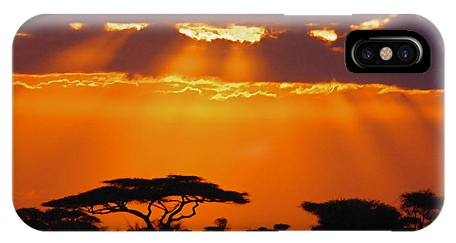 Serengeti IPhone X Case featuring the photograph Serengeti Sunset by Marc Levine
