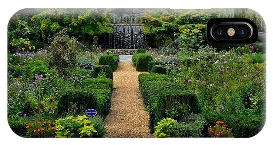 Garden IPhone X Case featuring the photograph Serenity Garden. by Enjargo Art