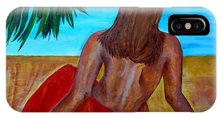 Beach IPhone X Case featuring the painting Serenity by Patti Schermerhorn