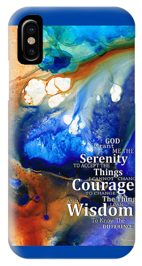 Serenity Prayer IPhone X Case featuring the painting Serenity Prayer 4 - By Sharon Cummings by Sharon Cummings
