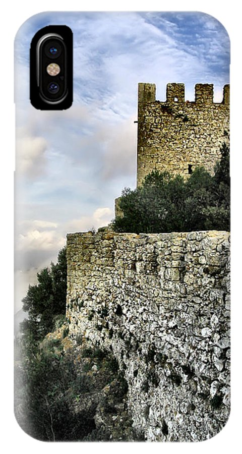 Castle IPhone X / XS Case featuring the photograph Sesimbra Castle by Jose Elias - Sofia Pereira