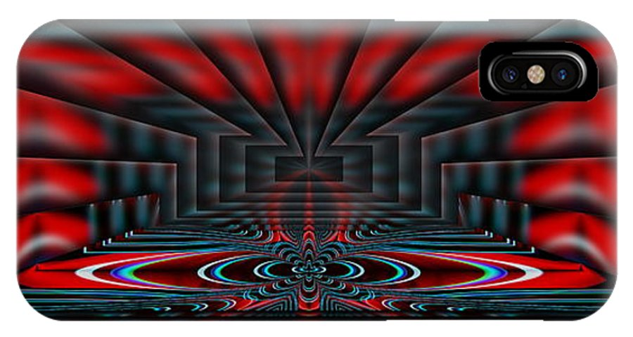 Set IPhone X Case featuring the digital art Setting The Stage by Tim Allen