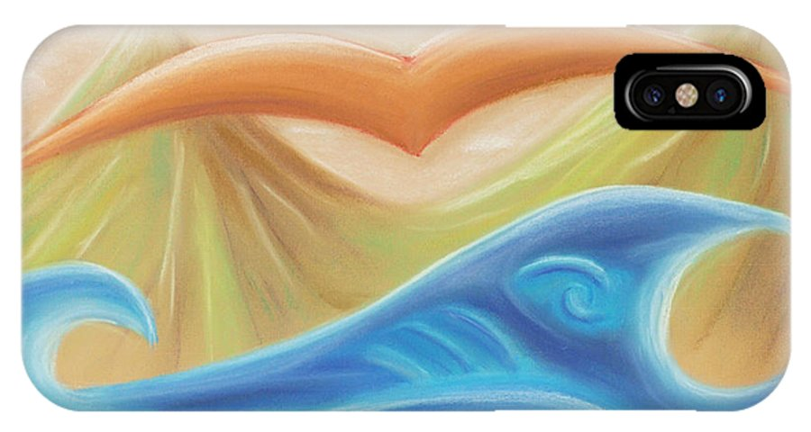 Seven Days IPhone X Case featuring the pastel Seven Days Of Creation - The Fifth Day by Pal Szeplaky