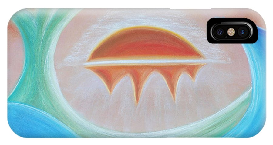Seven Days IPhone X Case featuring the pastel Seven Days Of Creation - The Seventh Day by Pal Szeplaky