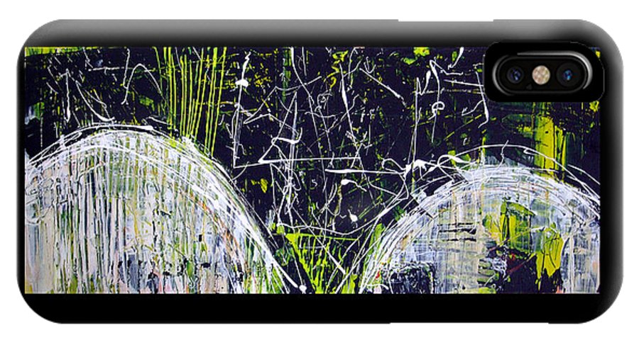 Landscape IPhone X Case featuring the painting Seville Hills I by Mark Fearn