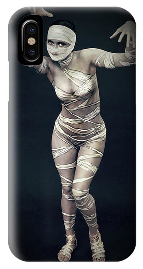 Body Paint IPhone X Case featuring the photograph Sexy Mummy Girl by Edward Pollick