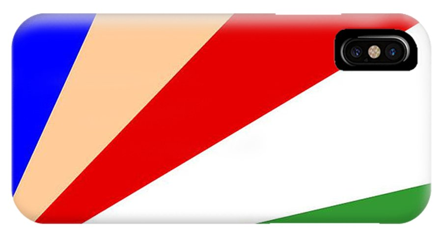 Seychelles IPhone X Case featuring the digital art Seychelles Flag by Frederick Holiday