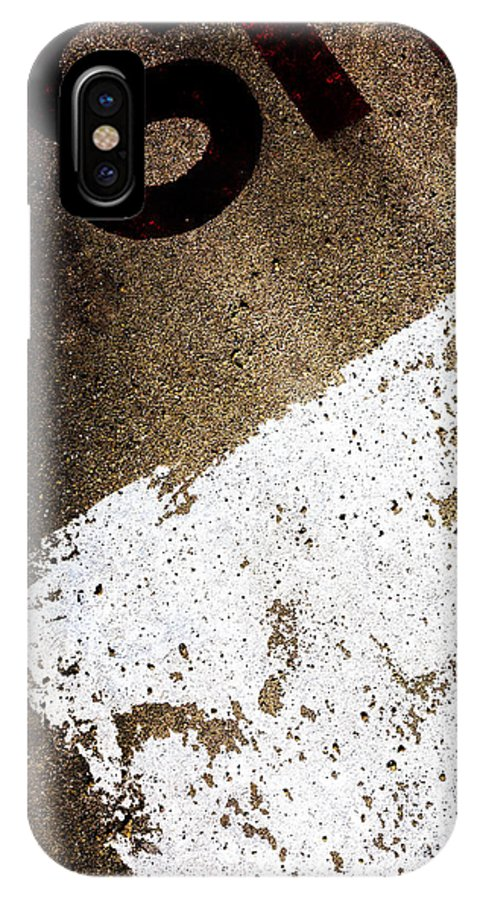 Abstract IPhone X Case featuring the photograph SH by Bob Orsillo