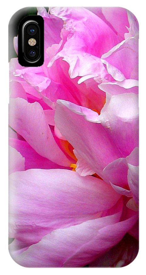 Shabby Peony IPhone X Case featuring the photograph Shabby Peony by Patti Whitten