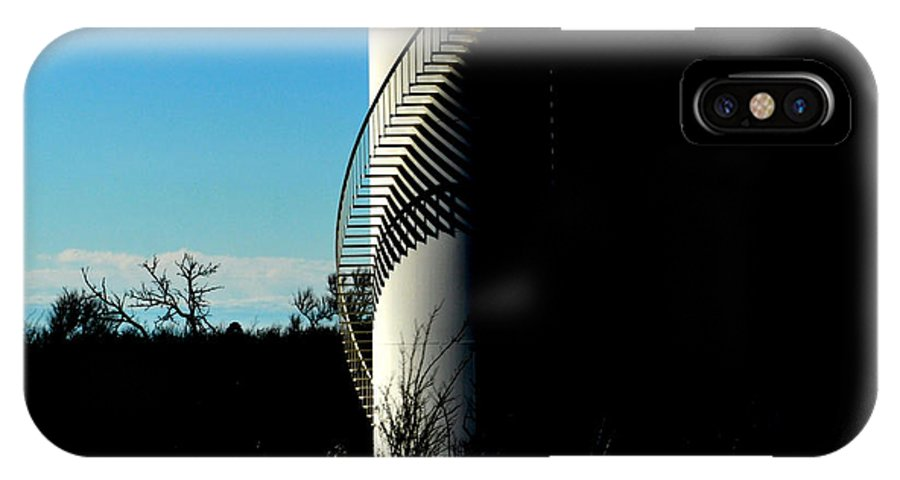 Oilfield IPhone X Case featuring the photograph Shadow Site by Anjanette Douglas