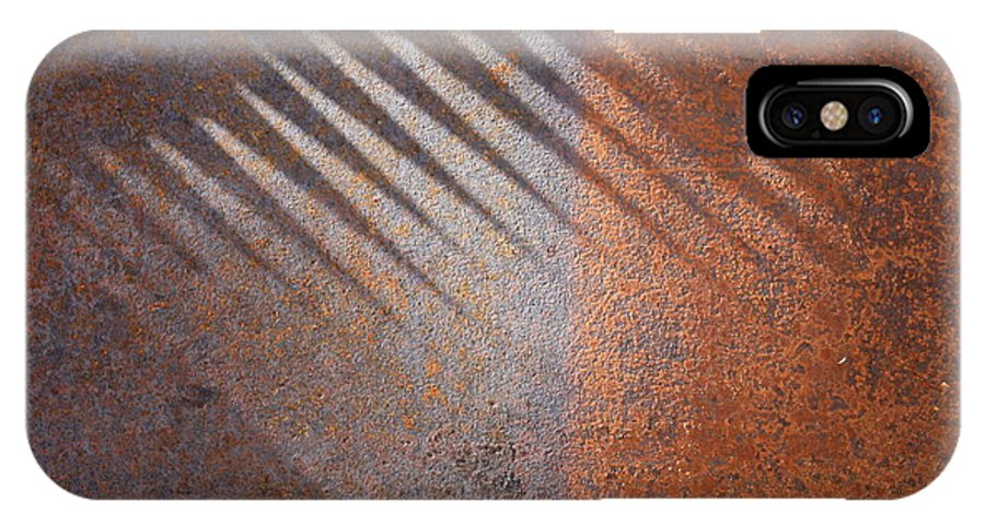 Rust IPhone X / XS Case featuring the photograph Shadows And Rust by Carol Groenen
