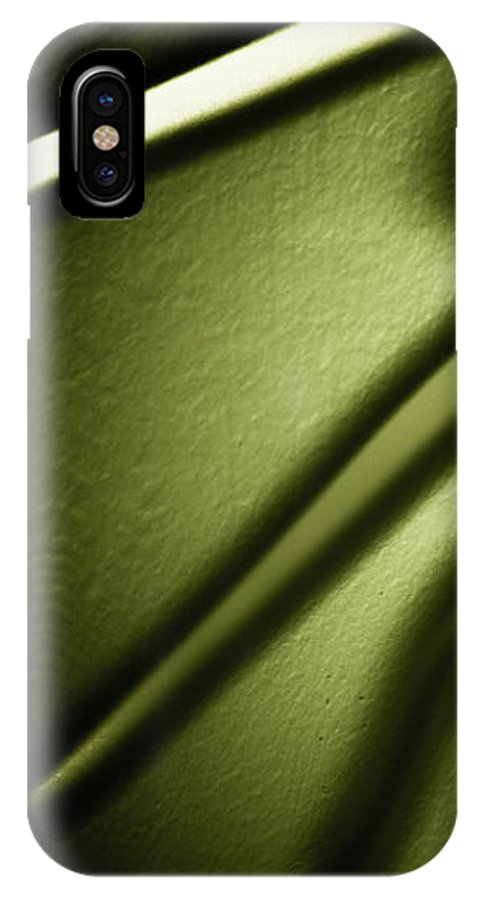 Abstract IPhone X Case featuring the photograph Shadows On Wall by Darryl Dalton