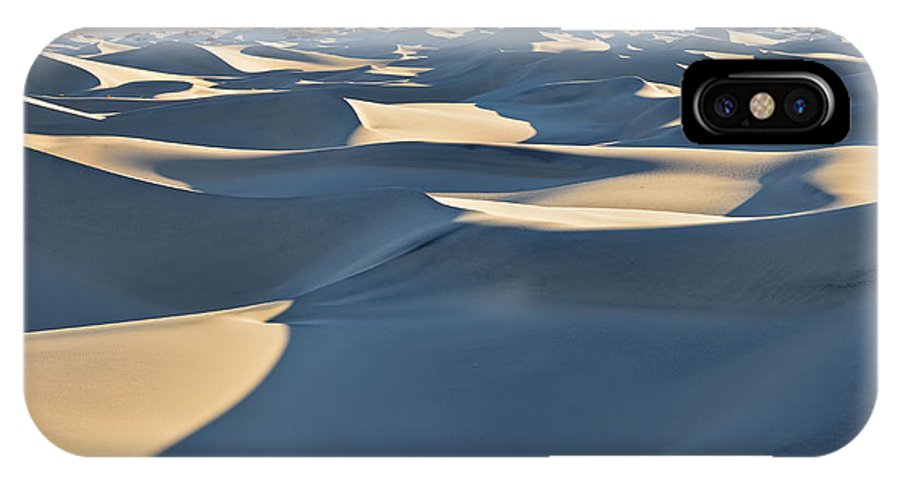 Death Valley IPhone X Case featuring the photograph Shadows Over The Dunes by Brandon Yoshizawa