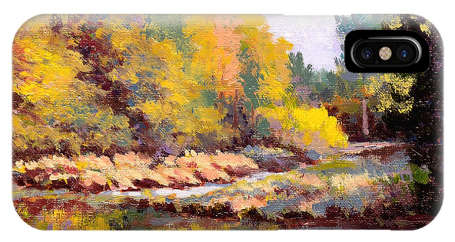 Impressionism IPhone X Case featuring the painting Shadowy Creek by Keith Burgess
