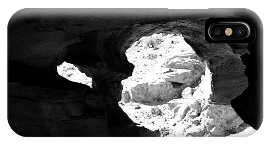 Rock Formation IPhone X Case featuring the photograph Shady Haven by Emilio Maria