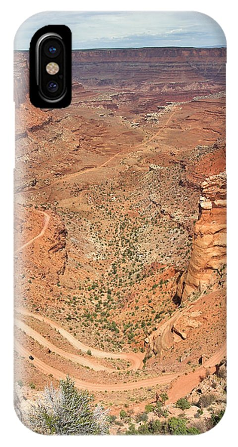 3scape IPhone X Case featuring the photograph Shafer Trail by Adam Romanowicz