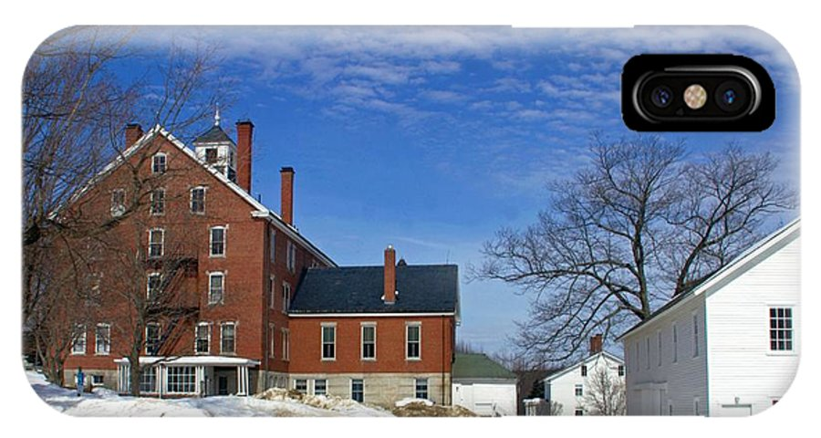 Shaker IPhone X Case featuring the photograph Shaker Village Road Poland Springs Maine by Catherine Melvin