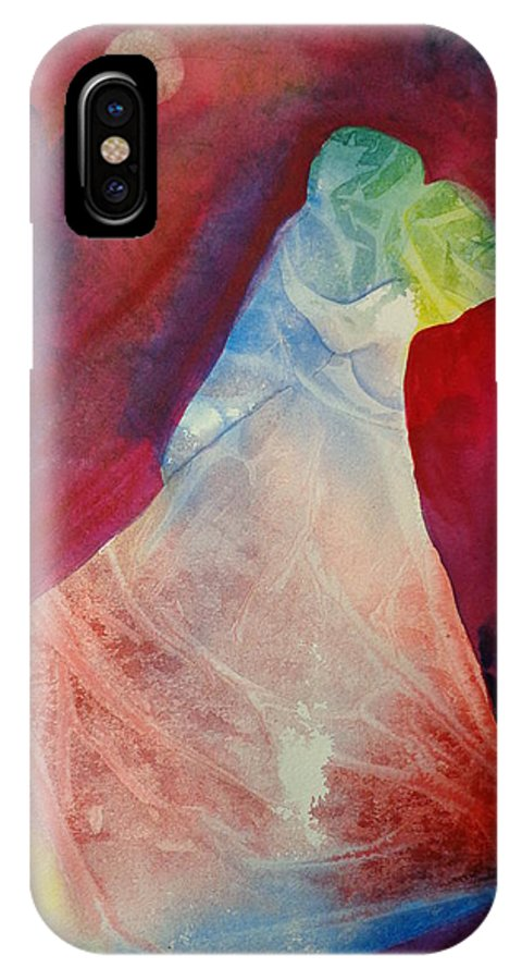 People IPhone X Case featuring the painting Shall We Dance by Elaine Frances Moriarty