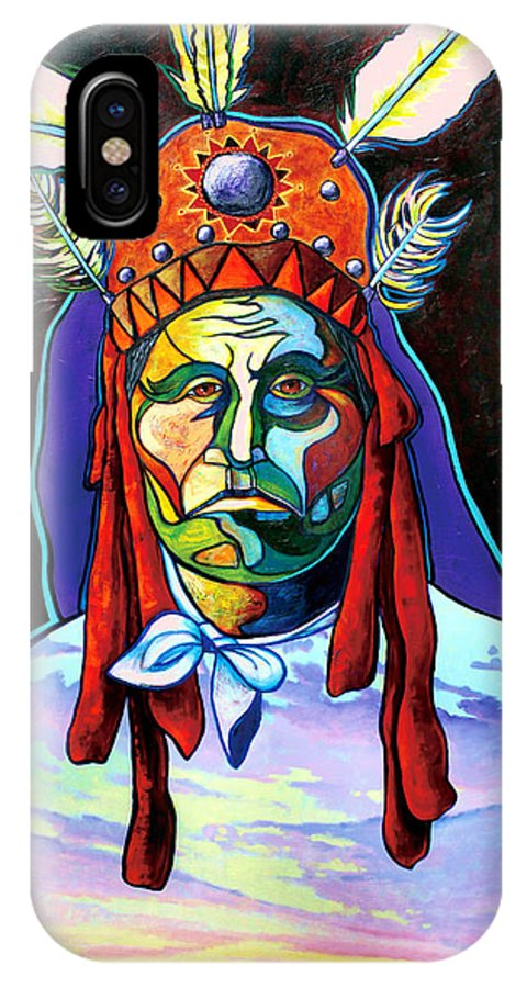 American Indian IPhone Case featuring the painting Shamans Power by Joe Triano