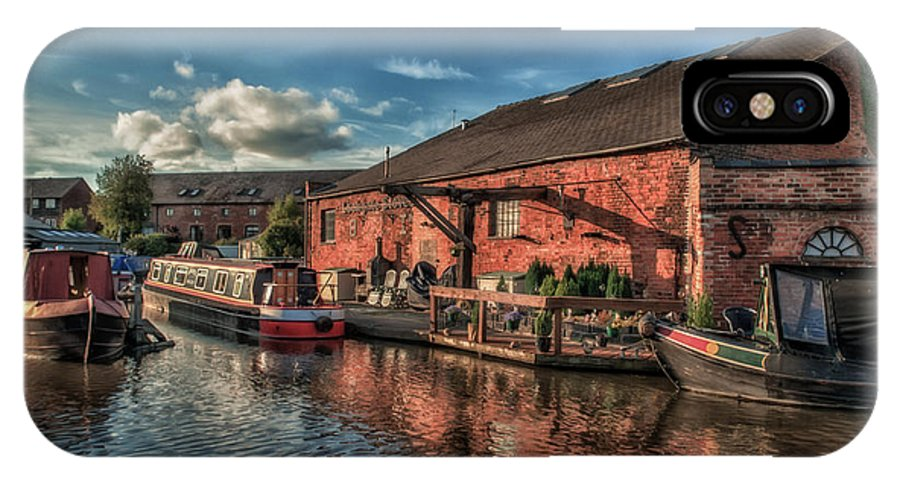 Canal IPhone X Case featuring the photograph Shardlow Wharf by Darren Marshall