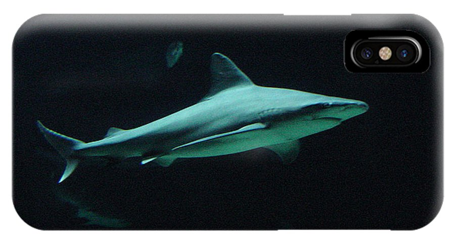Shark IPhone X Case featuring the photograph Shark-09451 by Gary Gingrich Galleries