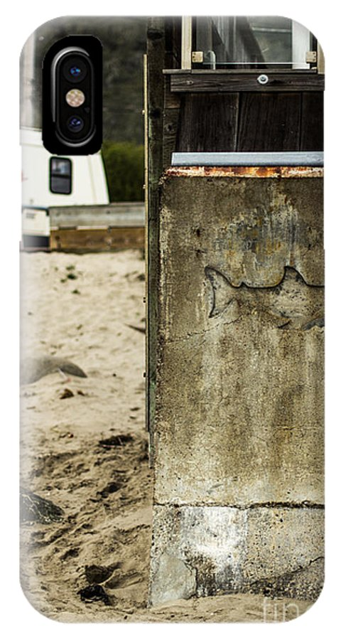 Beach IPhone X Case featuring the photograph Shark by Tim Tolok