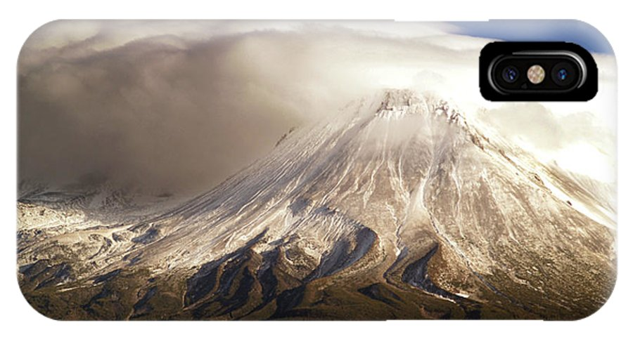 Mt Shasta IPhone X Case featuring the photograph Shasta Storm by Bill Gallagher