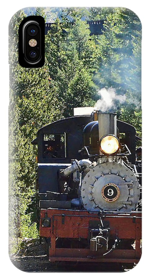 Steam Train IPhone X Case featuring the photograph Shay On The Loop by Ken Smith