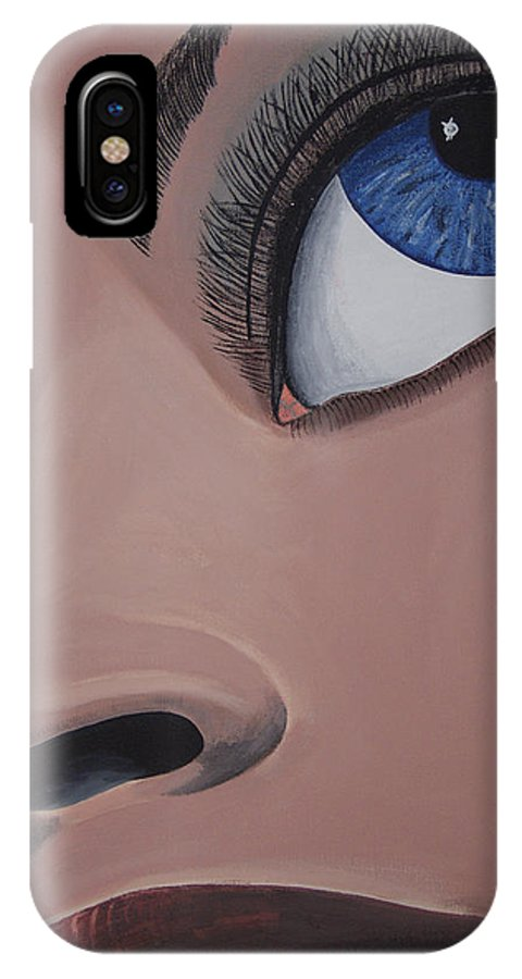 Eye Catching IPhone Case featuring the painting SHE by Dean Stephens