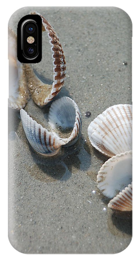 Sea Shell IPhone X Case featuring the photograph She Sells Sea Shells by Suzanne Gaff