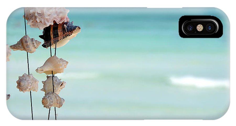Seashells IPhone X Case featuring the photograph She Sells Seashells by Sophie Vigneault