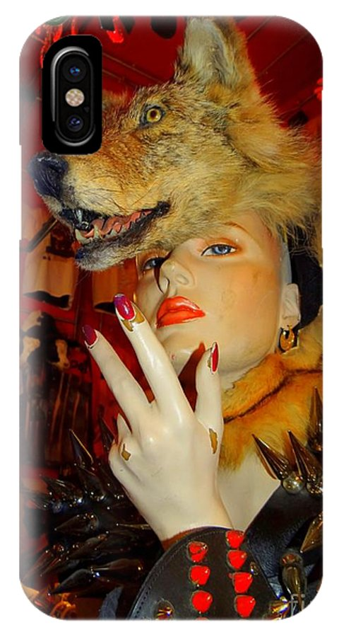 Mannequins IPhone X Case featuring the photograph She Wolf by Ed Weidman