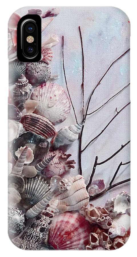 Sea Shells IPhone X Case featuring the photograph Shell Bouquet No 6 by Karin Dawn Kelshall- Best