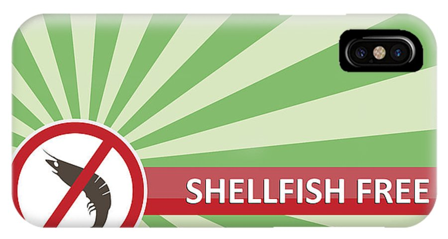 Product IPhone X Case featuring the photograph Shellfish Free Banner by Tim Hester