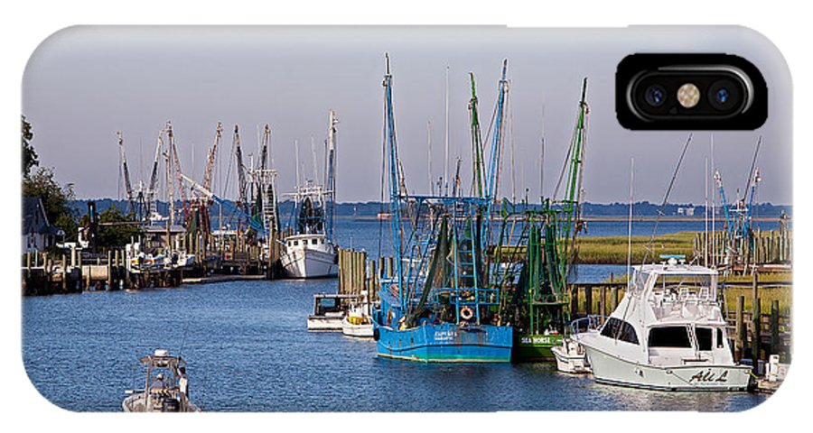 Shem Creek IPhone X Case featuring the photograph Shem Creek by Mic Smith