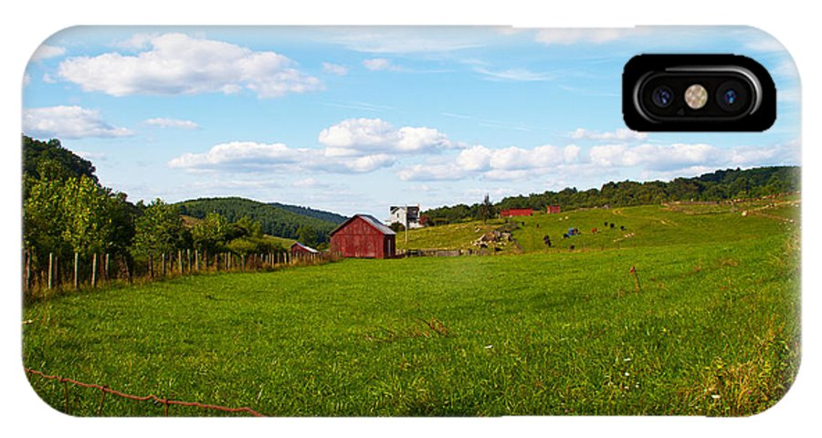Farm IPhone X Case featuring the photograph Shenandoah Farm by Guy Shultz