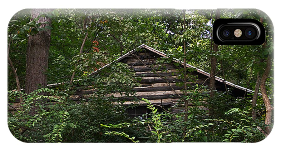 Log Cabin IPhone X Case featuring the photograph Shenandoah Log Cabin by Guy Shultz