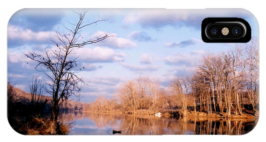 River IPhone X Case featuring the photograph Shenandoah River In Late Autumn by Laura Corebello