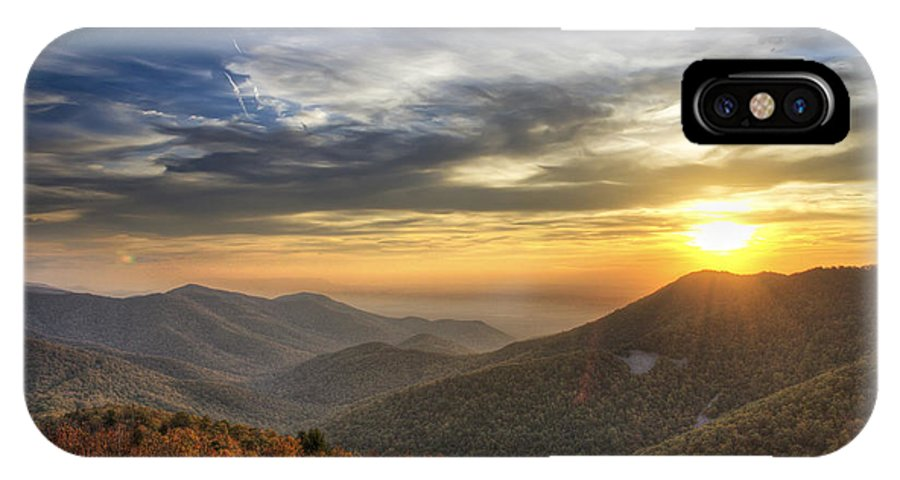 Virginia IPhone X Case featuring the photograph Shenandoah Virginia Sunset by Pierre Leclerc Photography