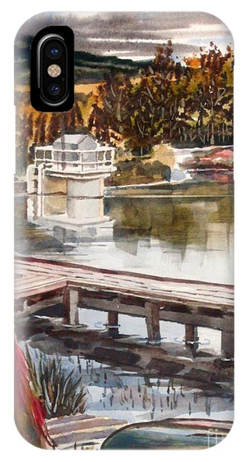 Shepherd Mountain Lake In Twilight IPhone X Case featuring the painting Shepherd Mountain Lake In Twilight by Kip DeVore