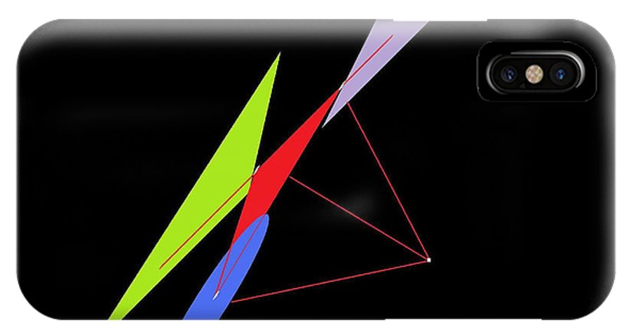 Math IPhone X Case featuring the digital art Shifting Vectors Scout 1 by Louis J Boston II