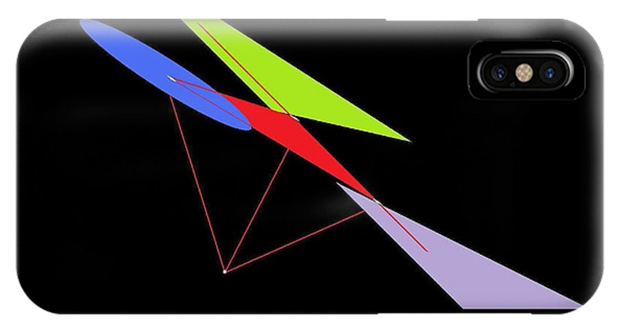 Math IPhone X Case featuring the digital art Shifting Vectors Scout 2 by Louis J Boston II