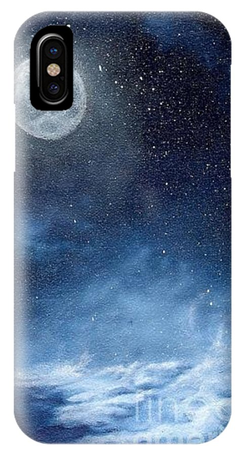 Cosmos IPhone Case featuring the painting Shimmer by Murphy Elliott