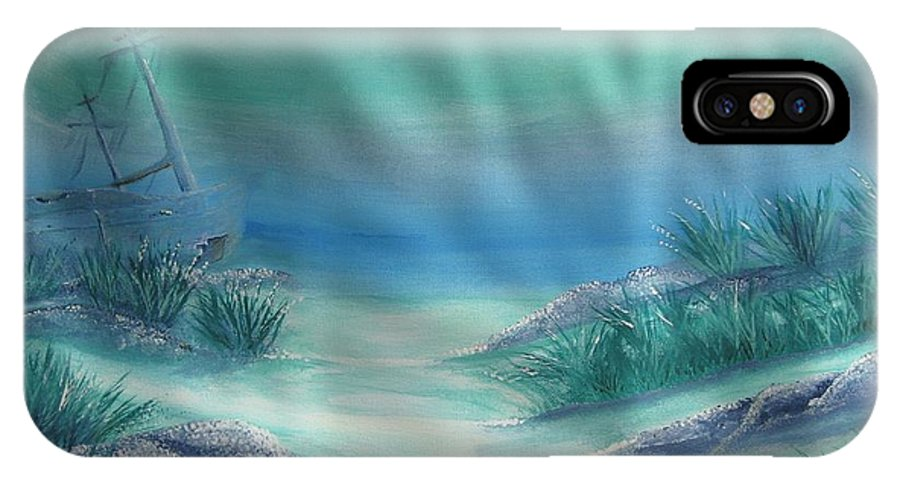 Landscape IPhone X Case featuring the painting Ship Wreck by Thomas Kirby