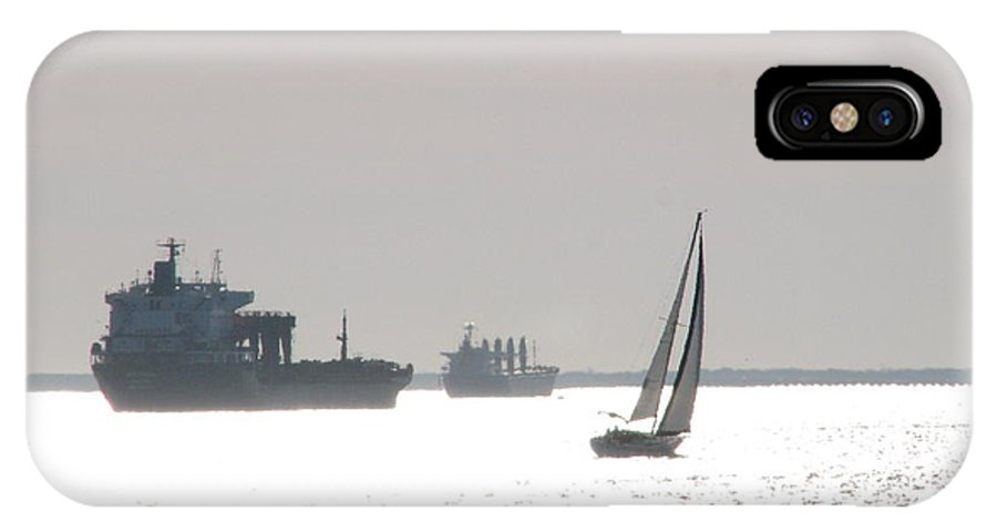 Fort Monroe IPhone X Case featuring the photograph Ships And Boats Off Fort Monroe by Joe Tanoury