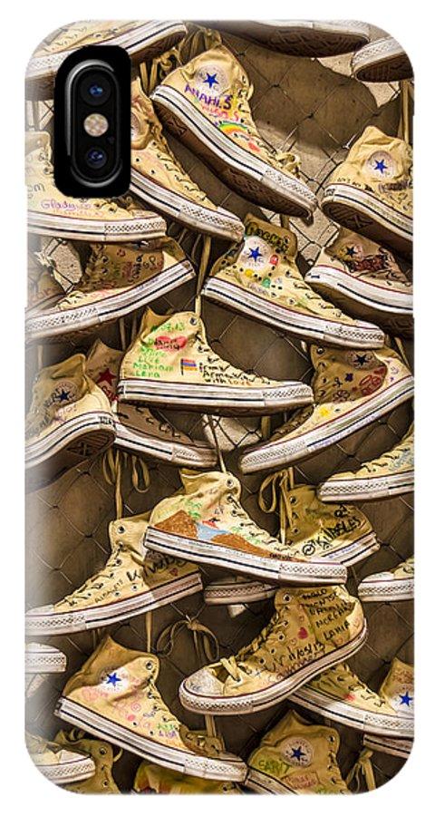 Array IPhone X Case featuring the photograph Shoe Art by Sotiris Filippou