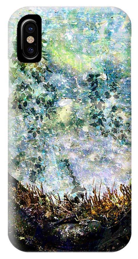 Shoe IPhone X Case featuring the digital art Shoe Flower by Abby Kirsch