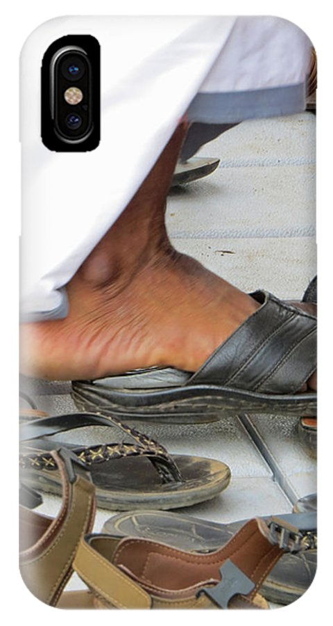 Bare Feet IPhone X Case featuring the photograph Shoes At The Door by E Faithe Lester