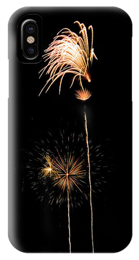 Fireworks IPhone X Case featuring the photograph Shooting Stars by Devinder Sangha