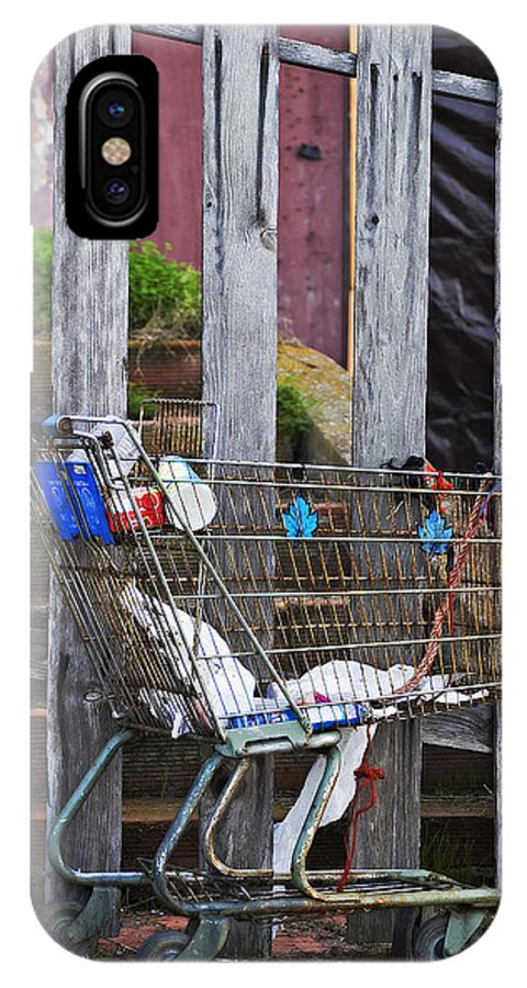 California IPhone X Case featuring the photograph Shopping Cart by Peter Tellone